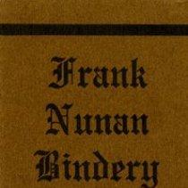 Image of Frank Nunan Bindery Bookmark