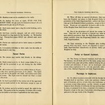 Image of Nurses' Parlor; Porter or General Assistant; Warnings to Employees