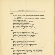 Image of List of Nursing Graduates, 1895-1898, page 34