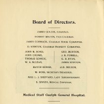 Image of Board of Directors & Medical Staff, Guelph General Hospital