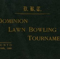 Image of 17th Annual Dominion Lawn Bowling Tournament, Toronto 1909
