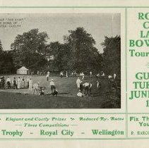 Image of Royal City Lawn Bowling Tournament Advertisement, 1911
