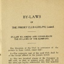 Image of By-Laws of The Priory Club Guelph, Limited, p.3