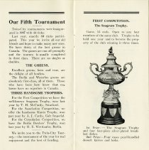 "Image of ""Our Fifth Tournament,"" Three Handsome Trophies, pp.2-3"