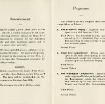 Image of Announcement; Programme, pp.1-2