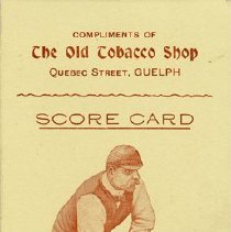 Image of Guelph Lawn Bowling Club Score Card, c.1910