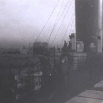 Image of G. Brown on Deck of Ship