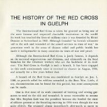 Image of History of the Red Cross in Guelph, p.1