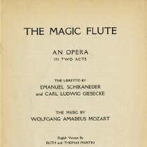 "Image of ""The Magic Flute, An Opera in Two Acts,"" p.1"
