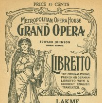 Image of MET Opera Program Lakme