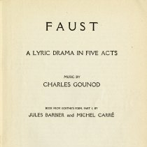 """Image of """"Faust, A Lyric Dram in Five Acts,"""" p.1"""