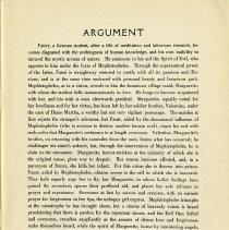 Image of Argument; Dramatis Personae, p.3