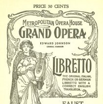 Image of Met Opera Program Faust