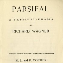 "Image of ""Parsival, A Festival Drama"" by Richard Wagner, p.1"
