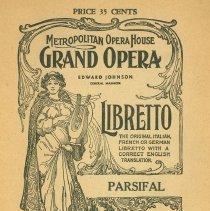 Image of Met Opera Program Parsifal