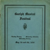 Image of Guelph Musical Festival Program, 1929