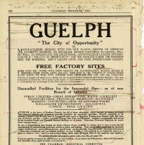 """Image of .1 - Advertisement for Guelph, """"The City of Opportunity"""""""