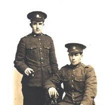 Image of Two Men in WWI Uniforms,c.1915