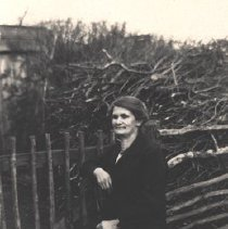 Image of Woman by a Fence, c.1920