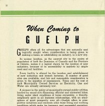 """Image of """"When Coming to Guelph,"""" page 32"""