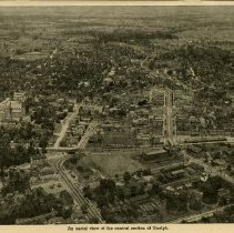 Image of Aerial View of Central Section of Guelph, 1945