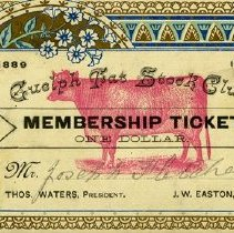 Image of Guelph Fat Stock Club Membership, 1889