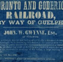 Image of Notice for Meeting re Toronto and Goderich Railroad, 1847