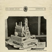 Image of Knox Church 100th Anniversary Program Supplement, 1944