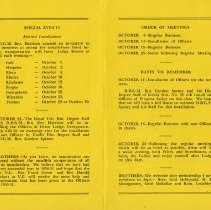 Image of Meeting Schedule for 1950-1951
