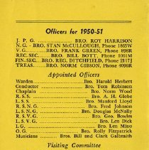 Image of Officers for 1950-1951