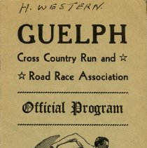 Image of Guelph Cross Country Run and Road Race Association Program, 1948