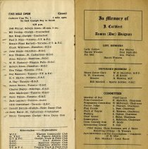 Image of In Memory; Life & Honorary Members; Committees