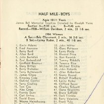 Image of Program, Boys Races, p.1