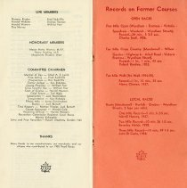 Image of Members, Committee Chairmen; Records on Former Courses, pp.8-9