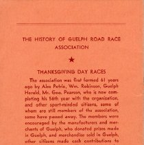 Image of The History of Guelph Road Race Association, back cover