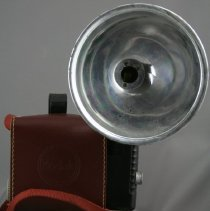 Image of Camera, Case, and Flash