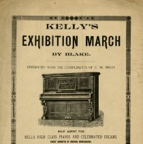 "Image of ""Kelly's Exhibition March"" Sheet Music"