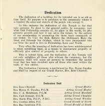 Image of Dedication Staff, p.1