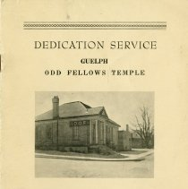 Image of Program, Dedication Service, Odd Fellows Temple, 1962