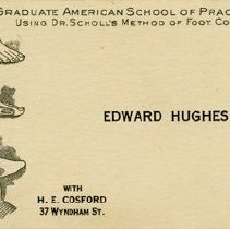 Image of Business Card for Edward Hughes