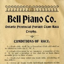 Image of Ontario Provincial Pursuit Team Race Trophy; Conditions of Race, p.41