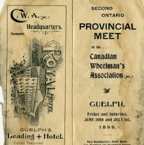 Image of Provincial Meet of Canadian Wheelman's Association, Guelph, 1899, p.2-3