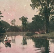 Image of Canoeing on River Speed, 1907