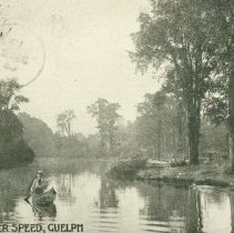 Image of Canoeing on River Speed, 1905