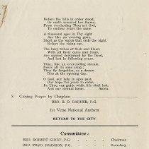 Image of Order of Service (Cont.); In Memoriam