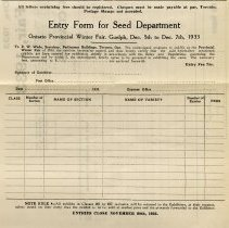 Image of Entry Form for Seed Department