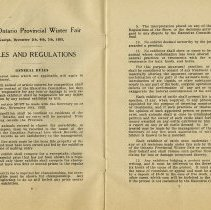 Image of Rules and Regulations, Provincial Winter Fair, pages 6,7
