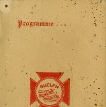 Image of Dance Programme/Card, Guelph General Hospital, 1931