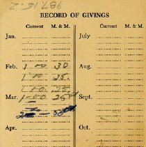 Image of Record of Givings