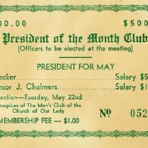 Image of President of the Month Club Ticket